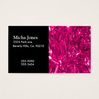 Festive Hot Pink Foil Business Card