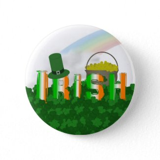 Festive Irish Button button