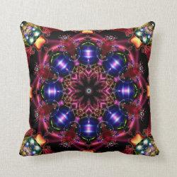 Festive Jewels Kaleidoscope Design No 03 Throw Pillow