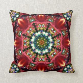 Festive Jewels Kaleidoscope Design No 05 Throw Pillow