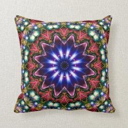 Festive Jewels Kaleidoscope Design No 11 Throw Pillow