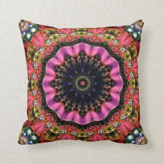 Festive Jewels Kaleidoscope Design No 12 Throw Pillow