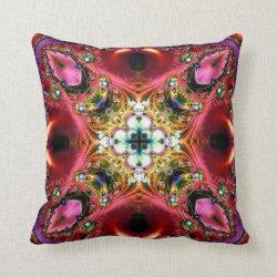 Festive Jewels Kaleidoscope Design No 13 Throw Pillow