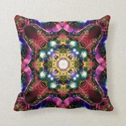 Festive Jewels Kaleidoscope Design No 21 Throw Pillow