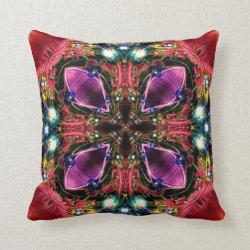 Festive Jewels Kaleidoscope Design No 23 Throw Pillow