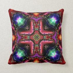 Festive Jewels Kaleidoscope Design No 25 Throw Pillow