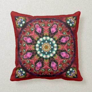 Festive Jewels Kaleidoscope Design No RF01 Throw Pillow