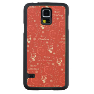 Festive Jolly Father Christmas Carved Maple Galaxy S5 Case