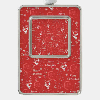 Festive Jolly Father Christmas Silver Plated Framed Ornament