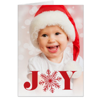 Festive Joy   Folded Holiday Photo Card