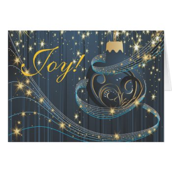 Festive Joy to the World Modern Christmas Card