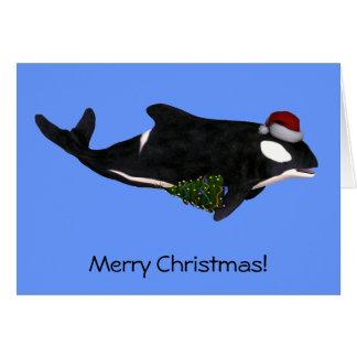 Festive Killer Whale Card