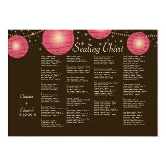 Festive Lanterns with Pastel Dark Brown & Pink Card