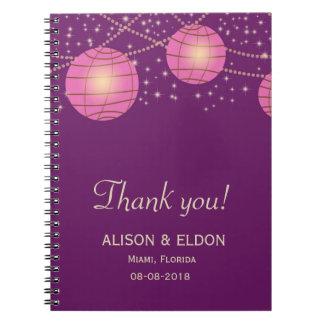 Festive Lanterns with Pastel Dark Purple & Pink Notebook