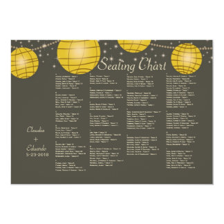 Festive Lanterns with Pastel Gray & Golden Yellow Card