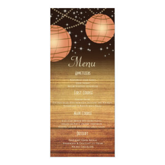 Festive Lanterns with Woodpanels 4x9.25 Paper Invitation Card