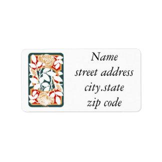 Festive Leaf Art Personalized Address Label