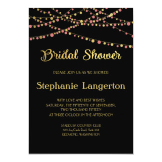 Festive Lights – Baby / Coral Pink + Gold Card