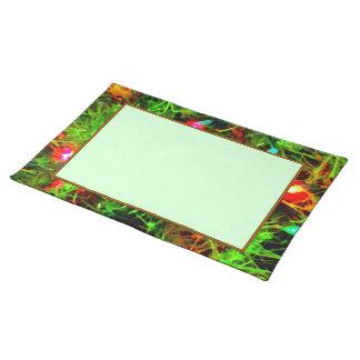 'Festive Lights' (Border) Placemat Cloth Placemat