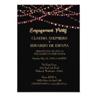 Festive Lights – Dark / Rose Pink + Gold Card