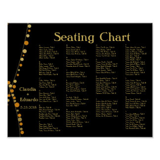 Festive Lights – Earth Yellow / Light Brown + Gold Poster