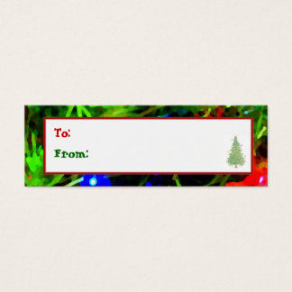 'Festive Lights' Holiday Gift Tag