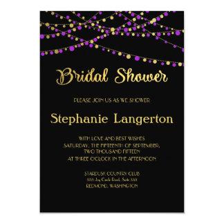 Festive Lights – Lavender / Purple + Gold Card