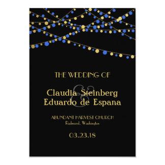 Festive Lights – Royal / Ocean Blue + Gold Card