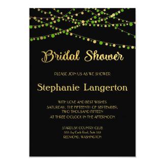 Festive Lights – Spring Green + Gold Card