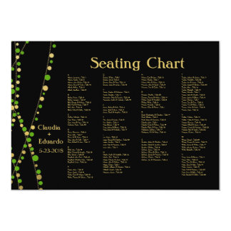 Festive Lights – Spring Green + Gold 5x7 Paper Invitation Card