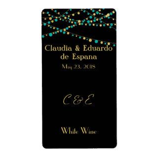 Festive Lights – Turquoise / Aqua + Gold Label