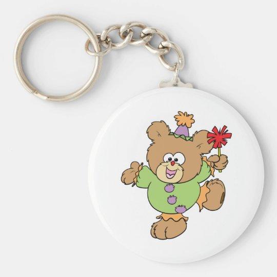 festive little clown teddy bear design keychain