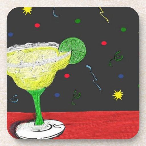 Festive Margarita Cork Coaster