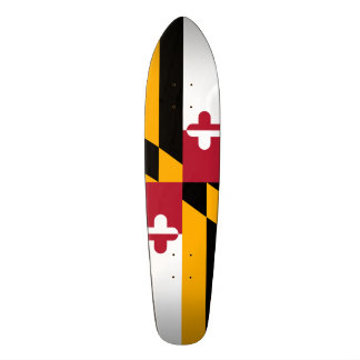 Festive Maryland State Flag Skateboard