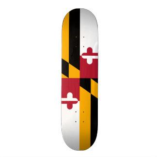 Festive Maryland State Flag Skateboard Deck