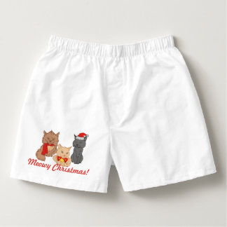 Festive Meowy Christmas Cats Boxers