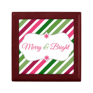Festive Merry and Bright Holiday Gift Box