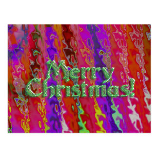 Festive Merry Christmas Postcard