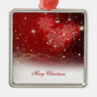"Festive ""Merry Christmas"" snowflakes ornaments"