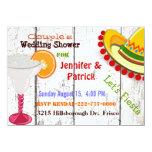 Festive Mexican Fiesta Couple's Wedding Shower 4.5x6.25 Paper Invitation Card