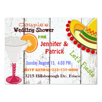 Festive Mexican Fiesta Couple's Wedding Shower Card