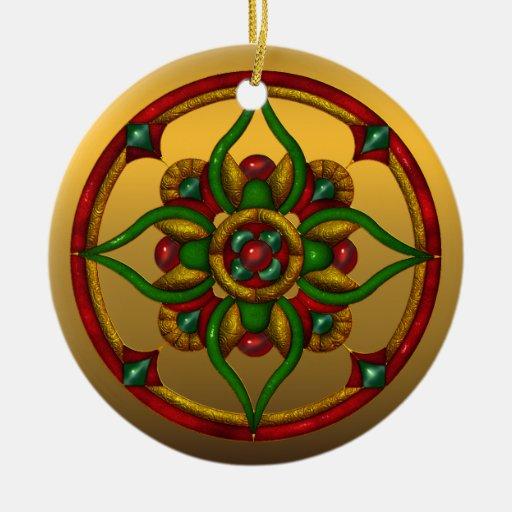 Festive Michigan State Christmas Ornament
