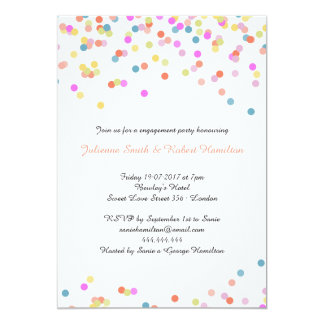 Festive Modern Confetti Engagement Party Card