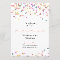 Festive Modern Confetti Wedding Save the Date