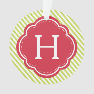 Festive Monogram & Photo Ornament