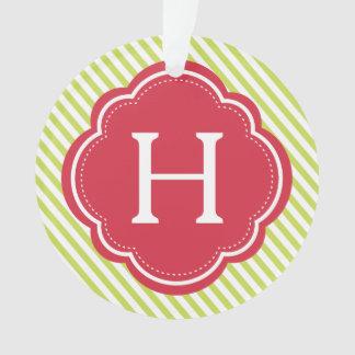 Festive Monogram & Photo Ornament