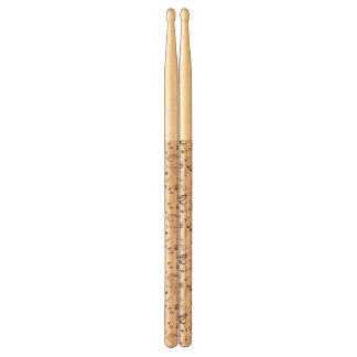 Festive Musical Notes, Bars, & Symbols Drum Sticks