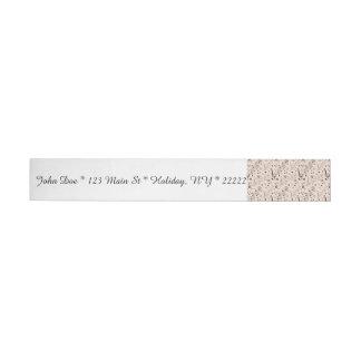 Festive Musical Notes, Bars, & Symbols Wrap Around Address Label