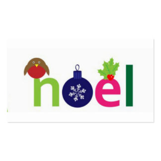 Festive  Noel Gift  Tags Pack Of Standard Business Cards