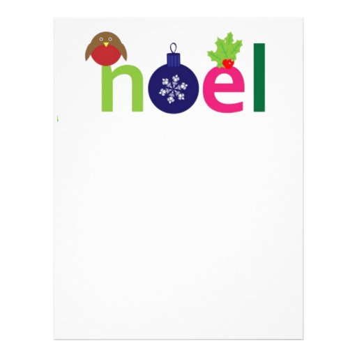 Festive  Noel Customized Letterhead